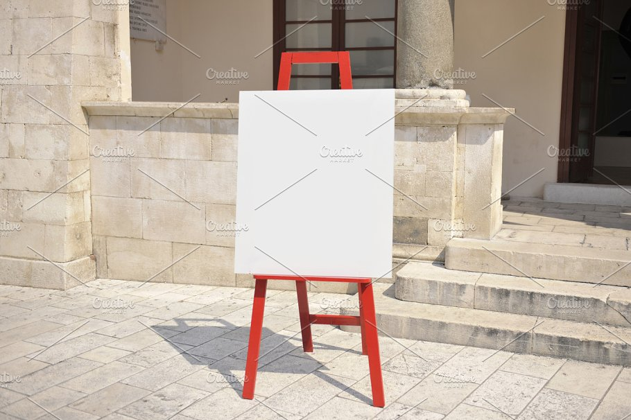 Easel In The Outdoor Mockup