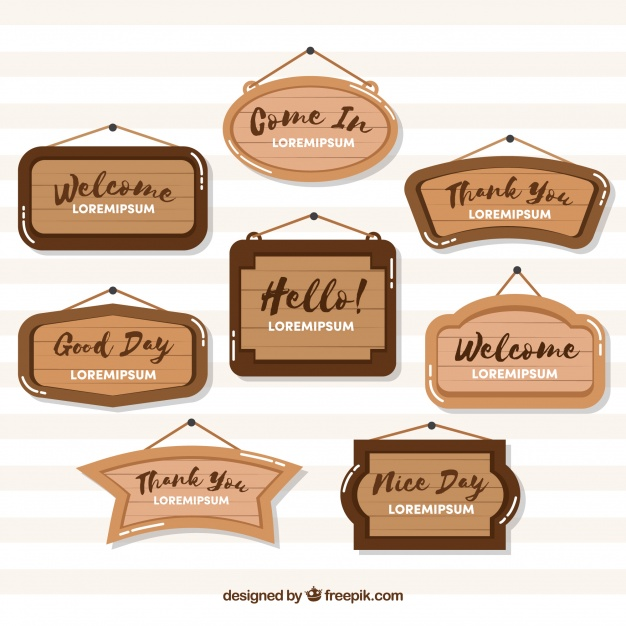 Easy Customizable Wood Sign Mockup vector File Illustration