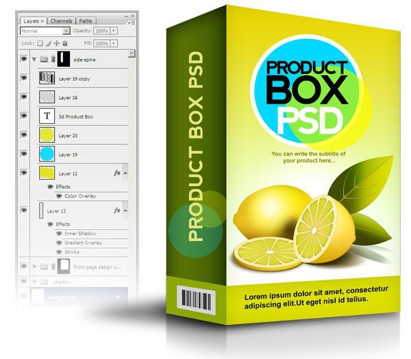 Eatable Product Cereal Box PSD