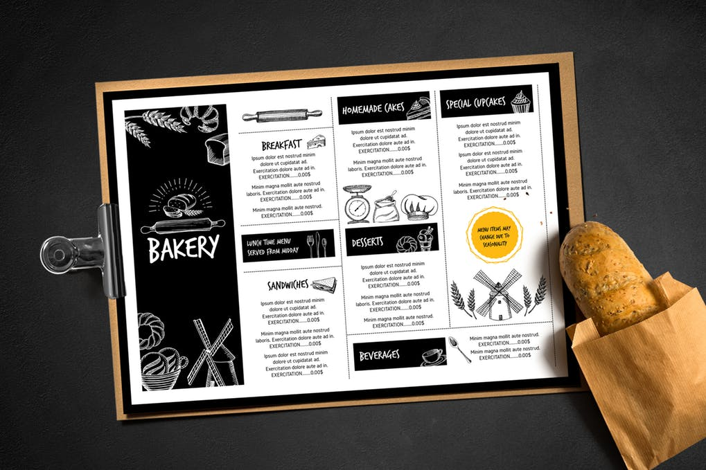 Editable Bakery PSD Design