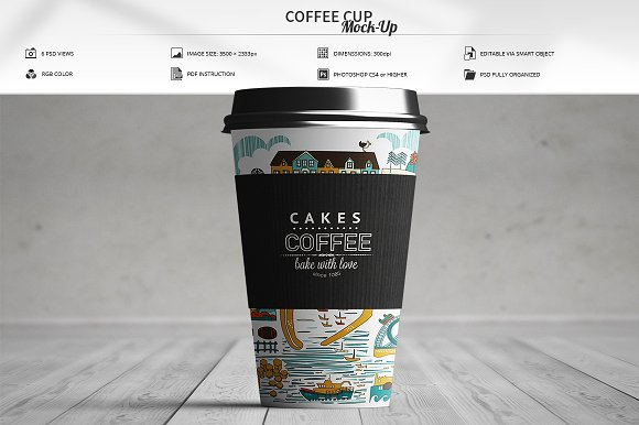 Editable Coffee Cup Mockup