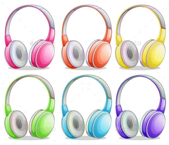 Editable Colorful Headphone Vector.
