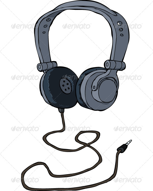 Editable Headphone Vector.