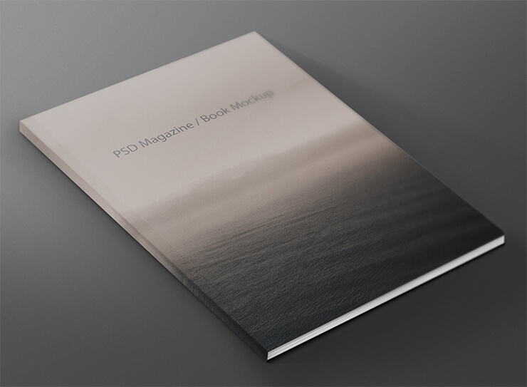 Editable PSD Magazine Book PSD Template