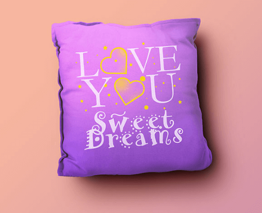 Editable Pillow Design template PSD