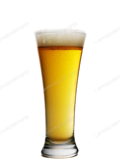 Editable Single Beer Glass Illustration PSD Design