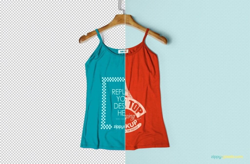 Editable Tank Top Ladies Edition PSD
