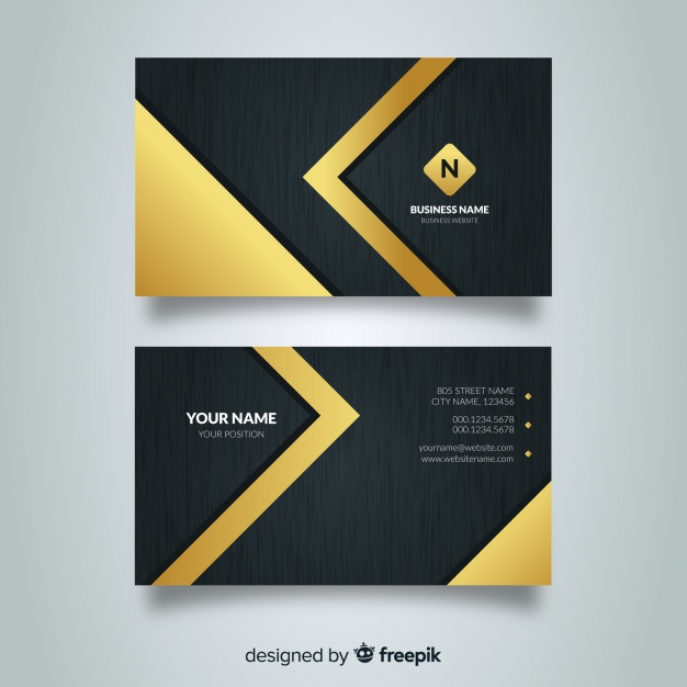 Elegant Design Business Card Mockup