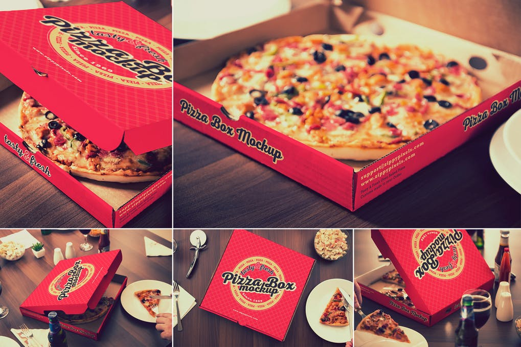 Elegant Design Pizza Packaging Box Mockup