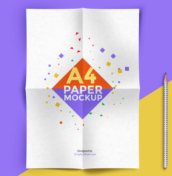Elegantly designed A4 Paper Customizable PSD Template