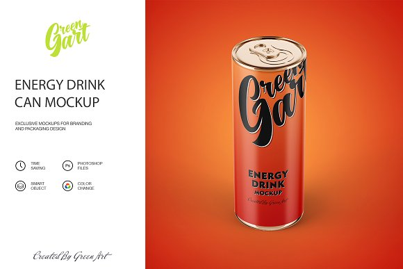 Energy Drink PSD Can Design