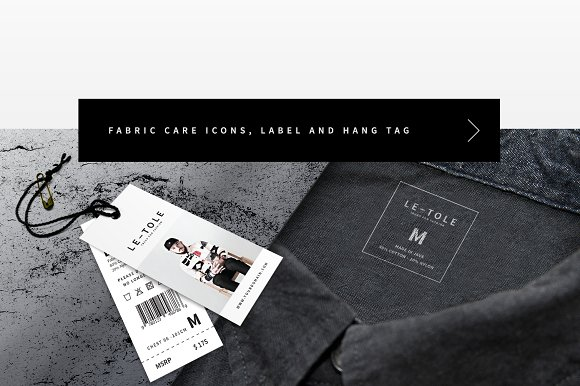 Fabric Care Icon Hang Tag And Label Designs Mockup