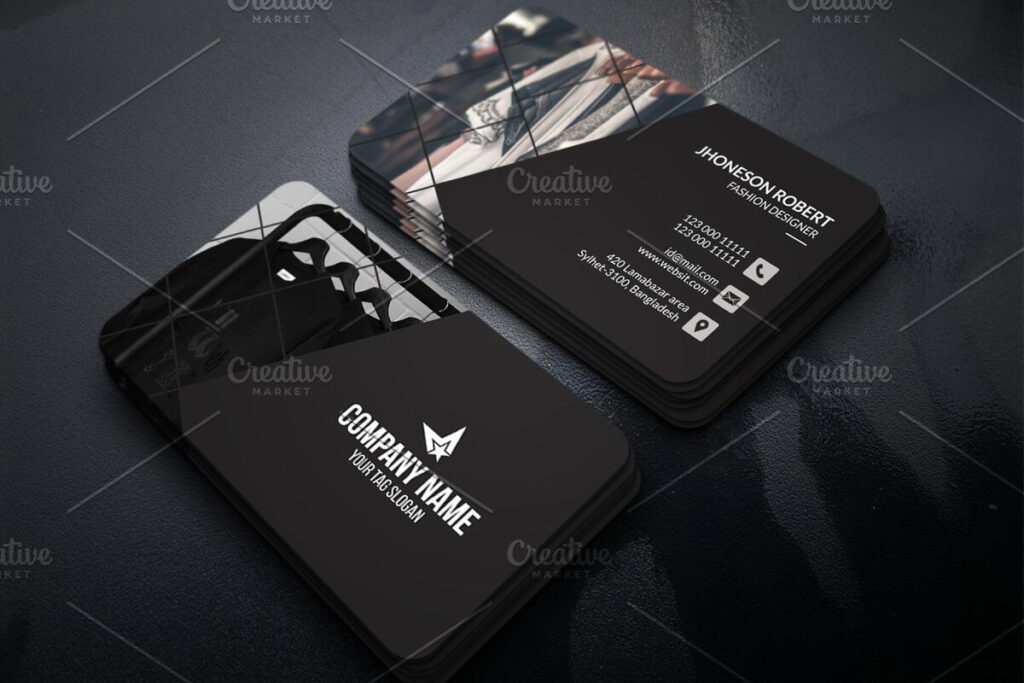 Fashion Design Business Card Template