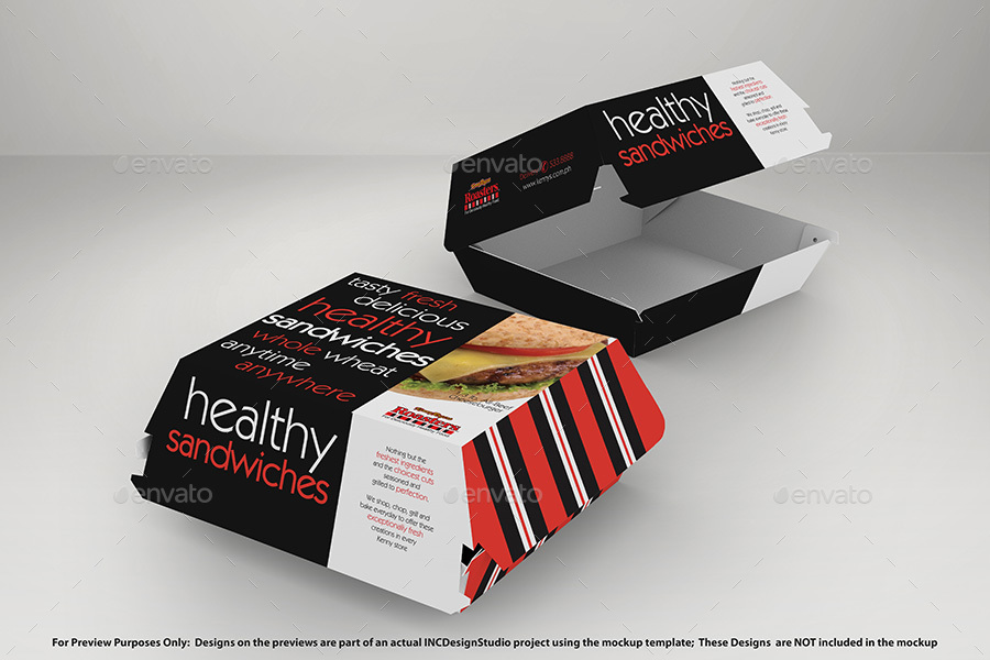 Fast Food Box Mockup.