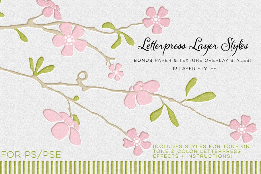 Floral Layer Theme Letterpress Business Card Mockup