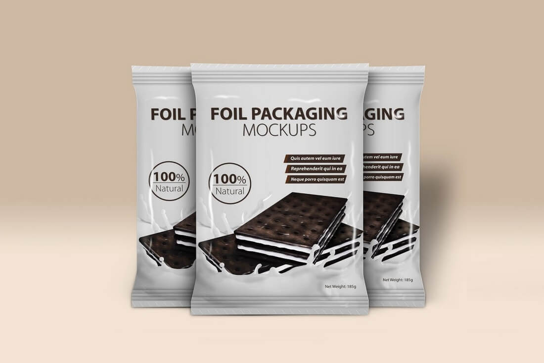 Foil PSD File Packaging Mockup