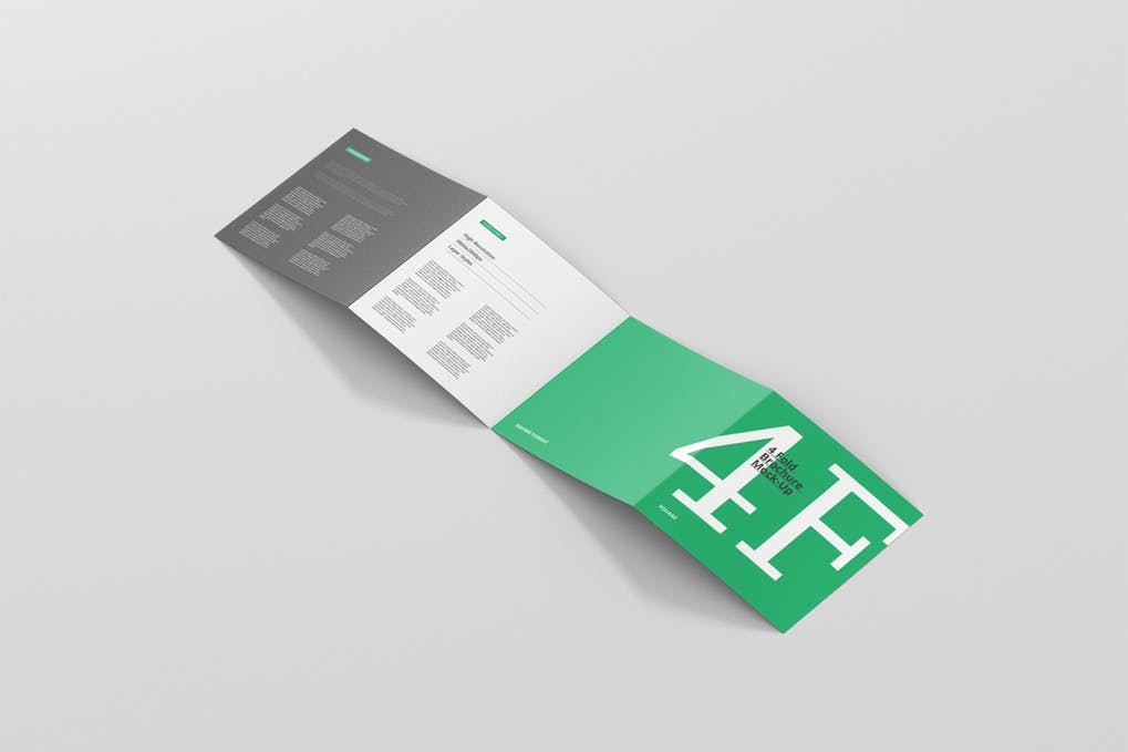 Four-Fold Square Booklet Template