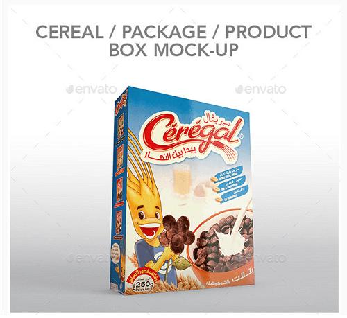 Free Cereal Box PSD Mockup