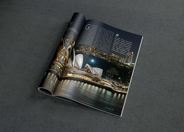 Free Editable Photo Realistic Magazine Mockup Free