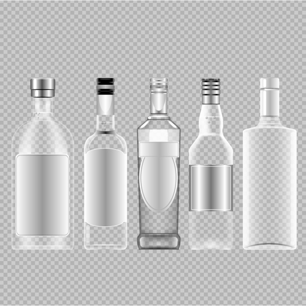 Free Empty Glass Bottle Vector