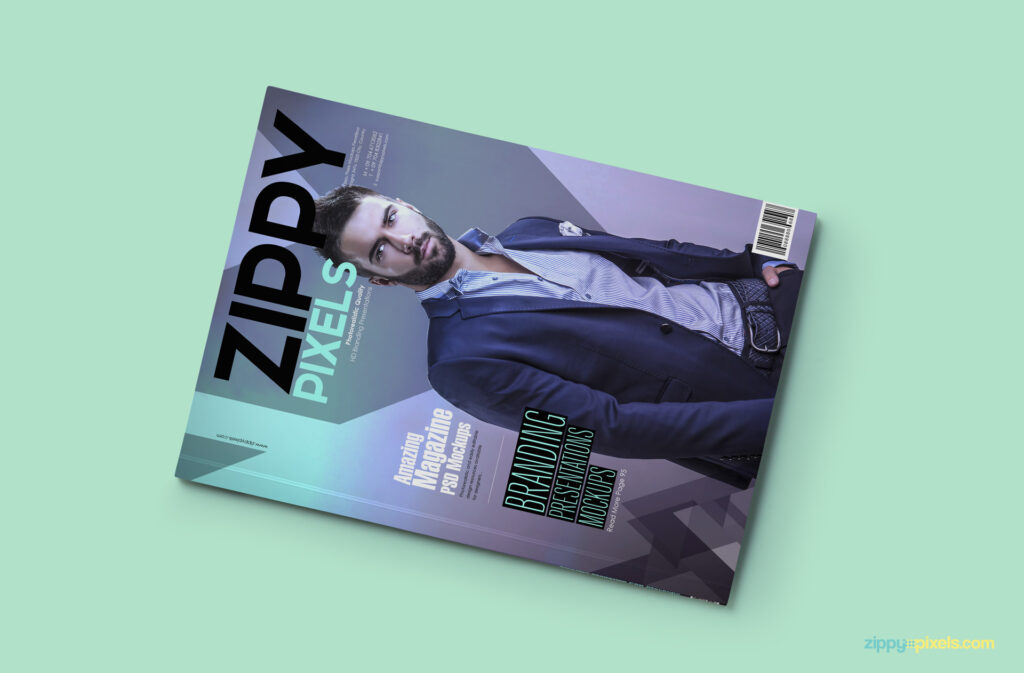 Free Fashion Magazine Cover Mockup PSD
