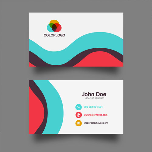 Free Flat Business Card Name Design