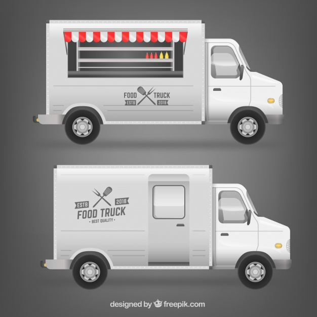 Free Illustration Of A Food Truck.