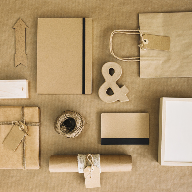 Free Kraft Paper Packaging Mockup