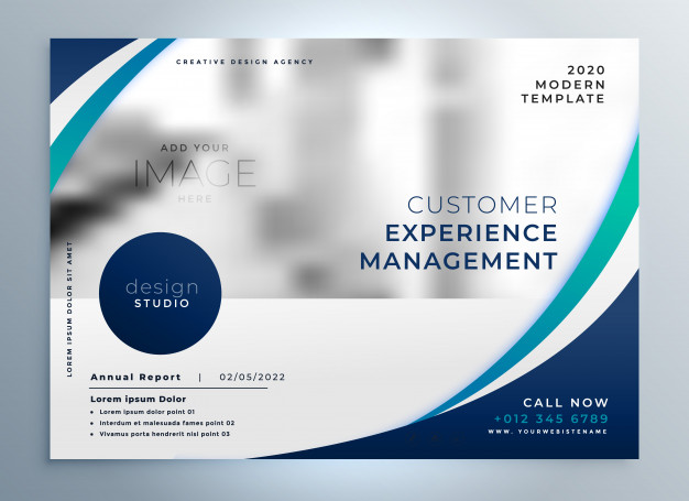 Free Management Company Flyer Vector In A4 size