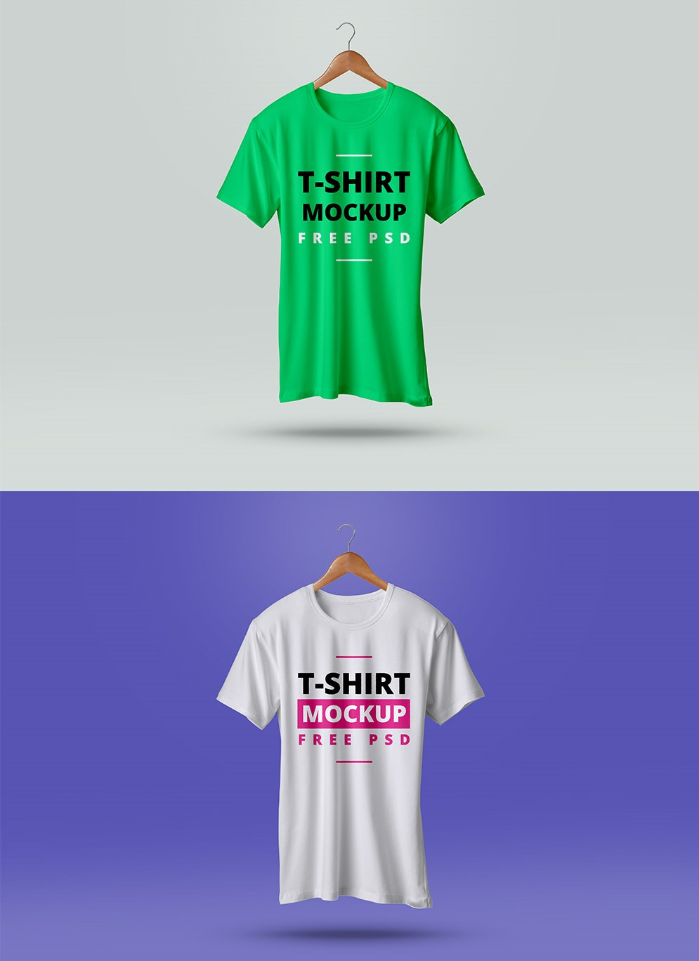 Free PSD Changeable Background t-shirts Mockup