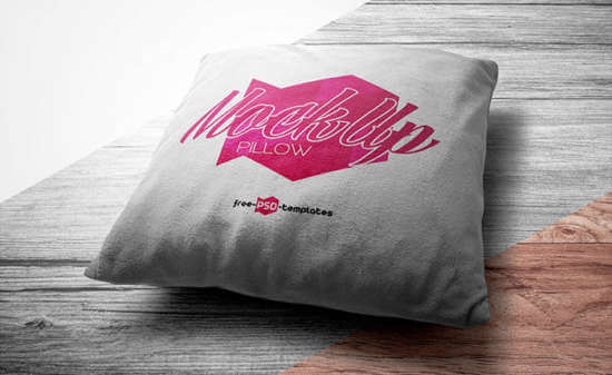 Free PSD Format Pillow Template Design