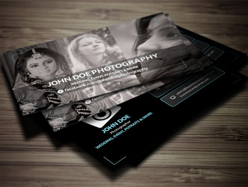 Free Photography Name Card Design
