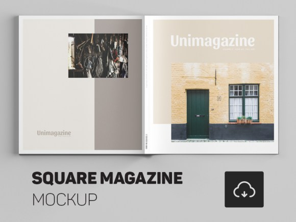 Free Square Magazine PSD Template