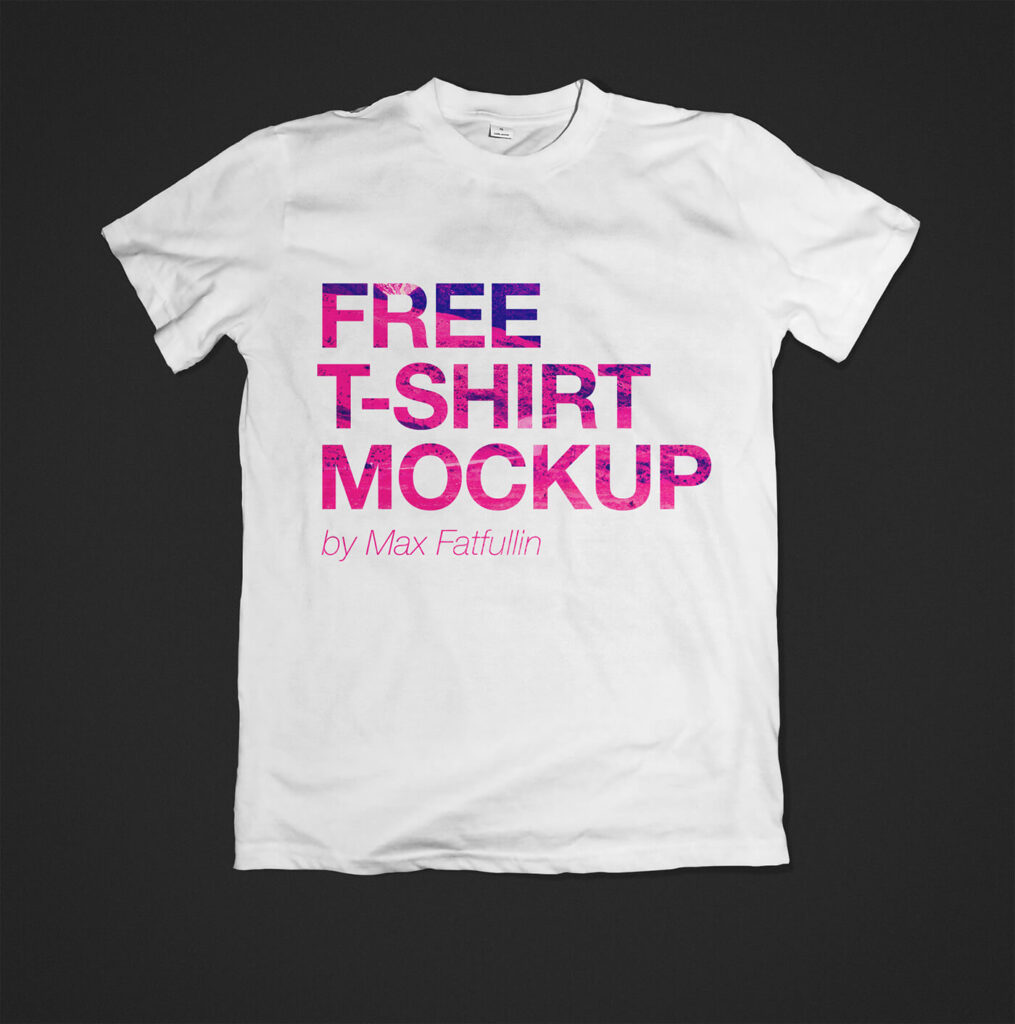 Free simple t-shirt mockup PSD