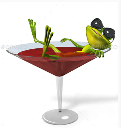 Frog In Wine Glass Design template