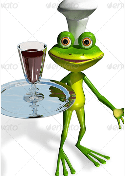 Frog is Serving Wine Mockup