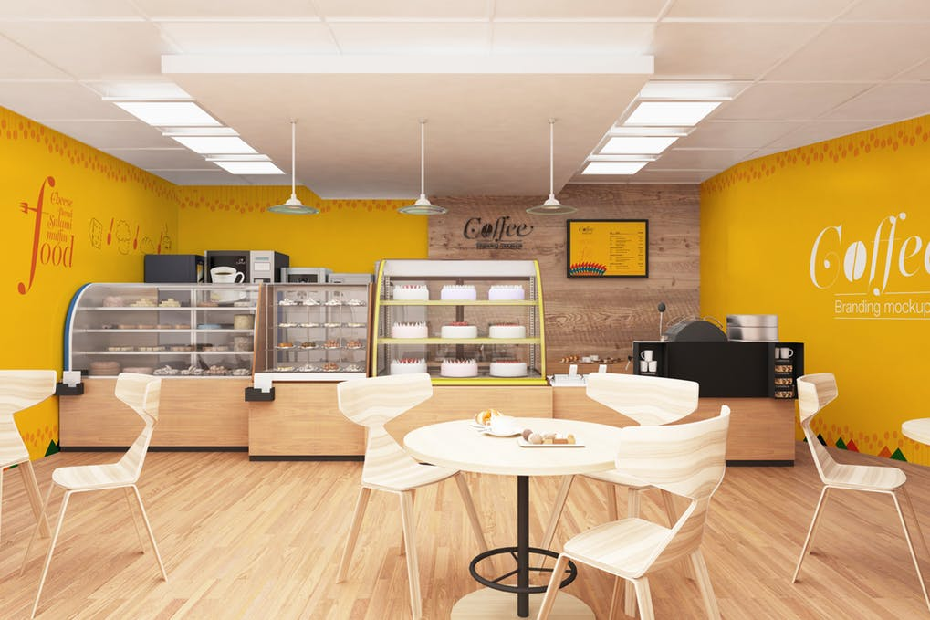 Front View of a Bakery Shop PSD