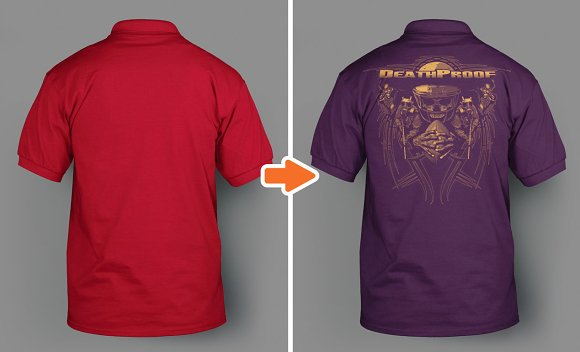 Front and Back View of Polo Sweatshirts Mockup