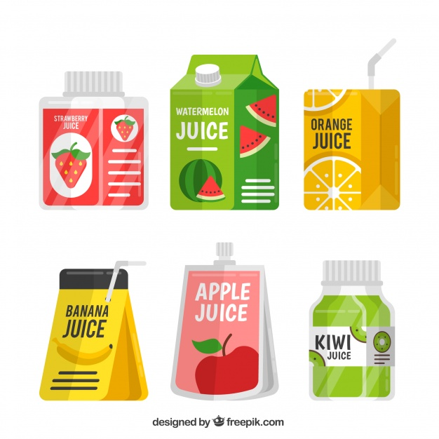 Fruit Juice Container Vector