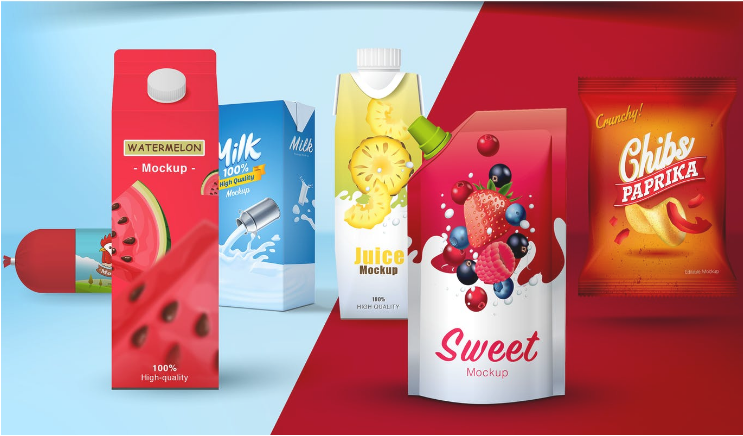 Fruit Juice Packaging Box Mockup