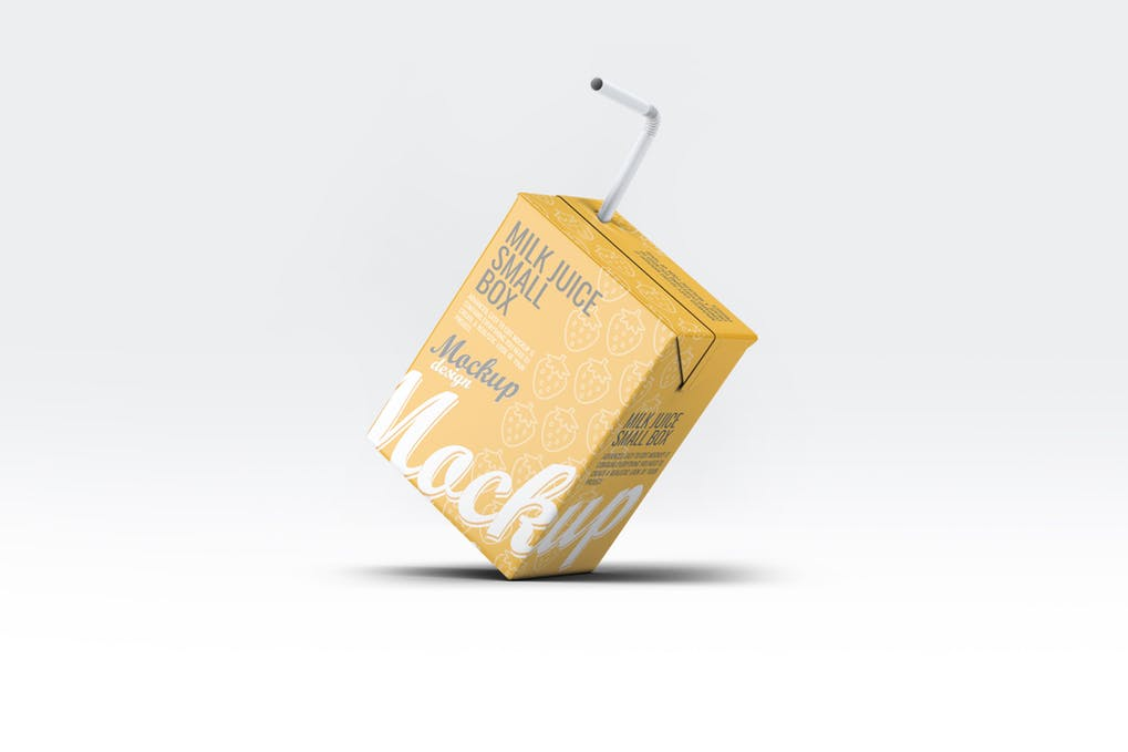 Fruit Juice With A Straw Mockup
