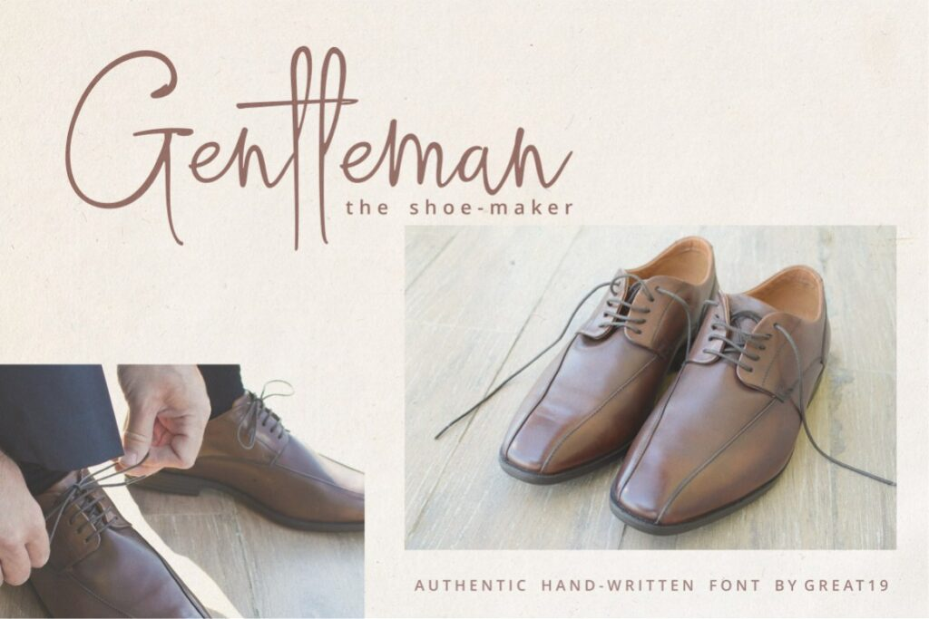 Gentleman Shoe-Maker Flyer Scene Mockup