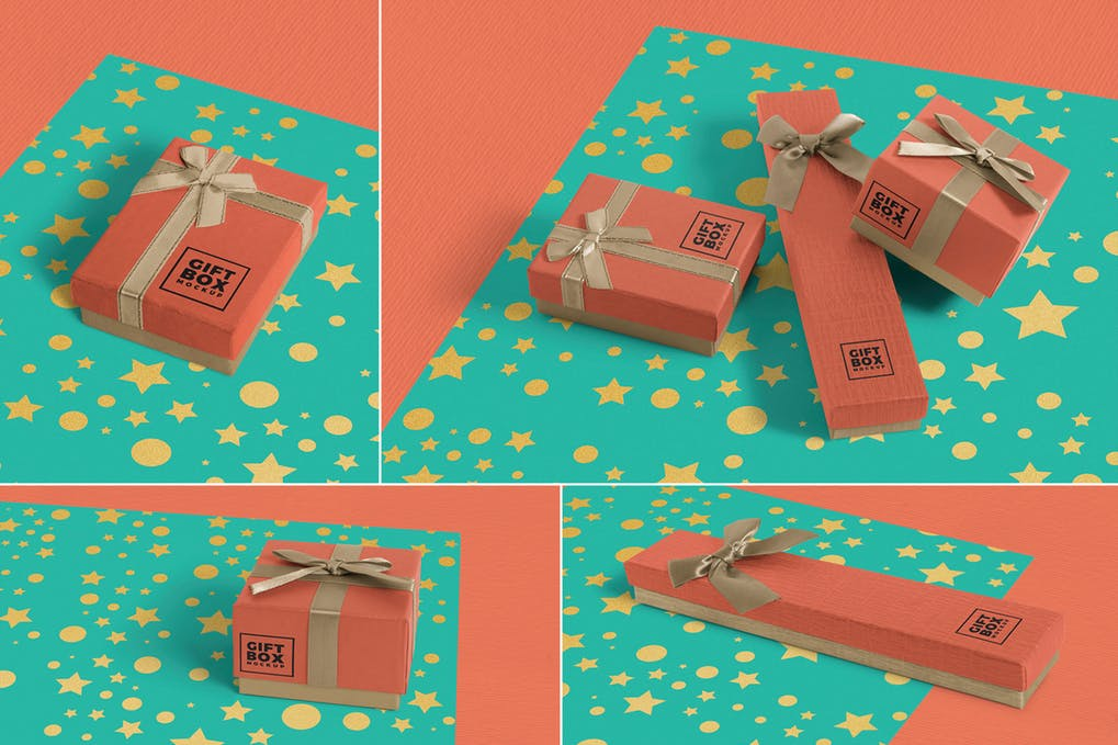 Gift Wrap Shipping Box Editable Template
