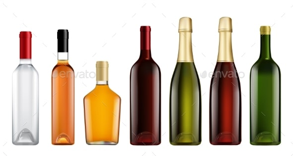 Glass Bottle Mockup Set