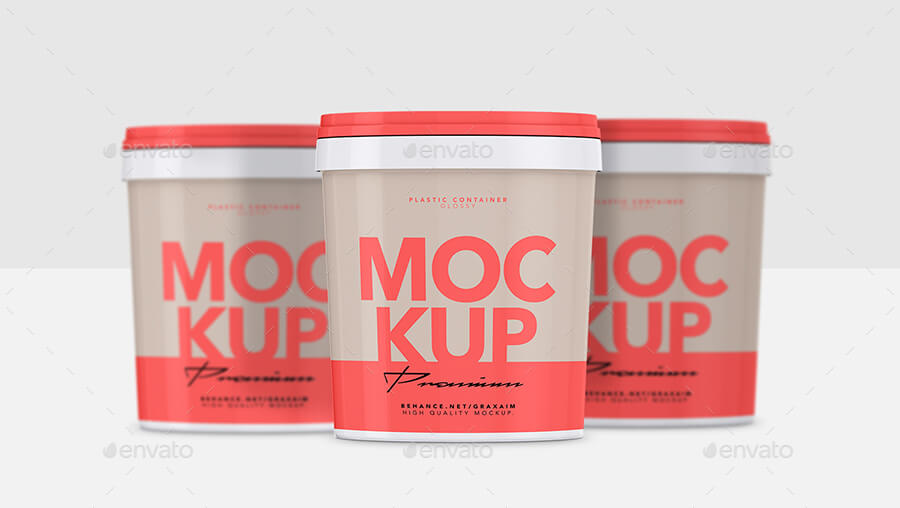 Glossy Plastic Container - Mockup