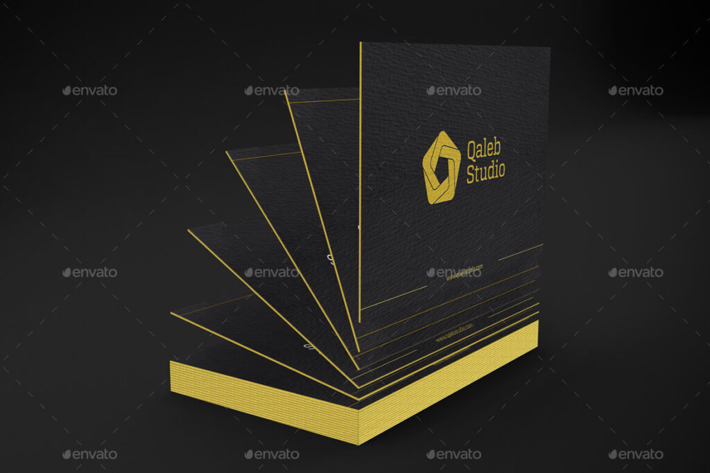 Gold & Dark Business Cards Mockup