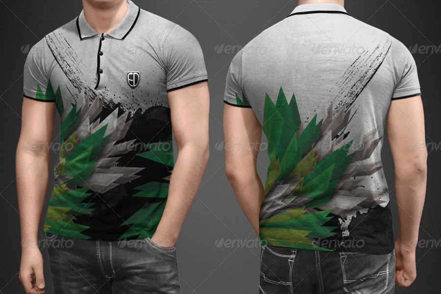 Graphic Designed Polo shirt PSD Template: