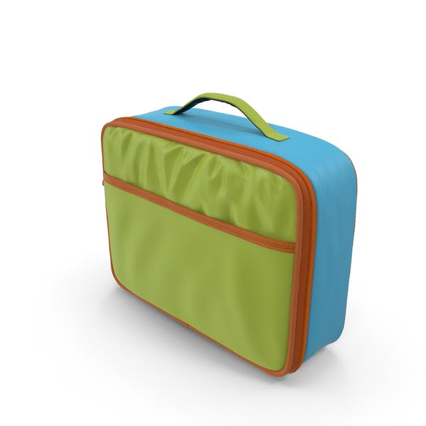 Green And Blue Color Lunch Box Mockup