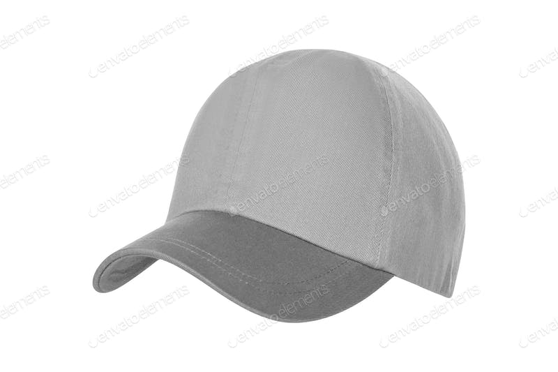 Grey Color Round Baseball Hat Mockup