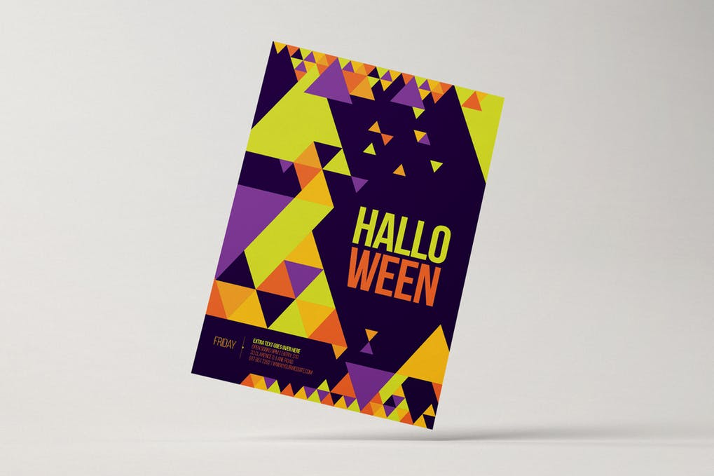 Halloween Party Poster With Creative Print